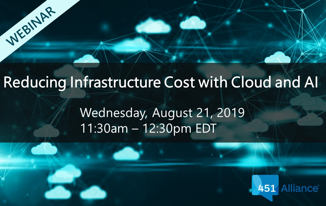 Reducing Infrastructure Cost with Cloud and AI